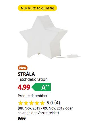 IKEA Saarlouis - STRALA Tischdekoration, sternförmig, weiß - jetzt 50% billiger