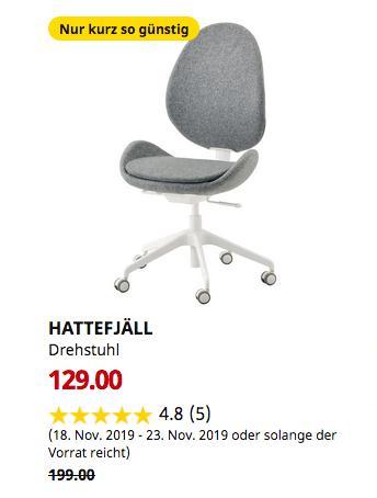IKEA Sindelfingen - HATTEFJÄLL Drehstuhl, Gunnared mittelgrau - jetzt 35% billiger