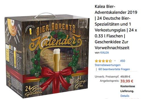 Kalea Bier-Adventskalender 2019 Edition Deutschland, 24 x 0.33 l Flaschen - jetzt 20% billiger