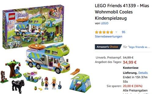LEGO Friends 41339 - Mias Wohnmobil - jetzt 19% billiger