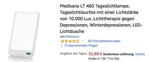 Medisana LT 460 Tageslichtlampe, 10000 Lux - jetzt 34% billiger