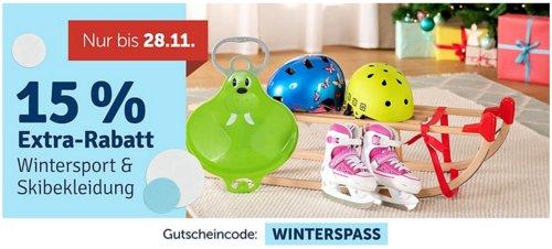 myToys - 15 % Extra-Rabatt auf Wintersport und Schnee- und Skibekleidung: z.B. Pinolino Davos-Schlitten aus Holz, 100 cm - jetzt 14% billiger