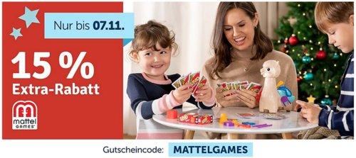 myToys.de - 15% Extra-Rabat auf Mattel Games: z.B.  Mattel Games Scrabble Junior und Mattel Games UNO Harry Potter - jetzt 14% billiger