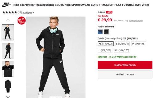 """Nike Sportswear Kinder Trainingsanzug """"TRACKSUIT PLAY FUTURA"""", versch. Farben und Größen (116-170) - jetzt 29% billiger"""