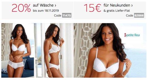 Otto.de - 20% Rabatt auf Wasche: z.B. s.Oliver Bodywear Damen Nachthemd mit Knopfleiste (32-46) - jetzt 16% billiger