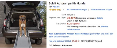 Petsafe Solvit Deluxe Tri-Scope Autorampe für Hunde - jetzt 23% billiger
