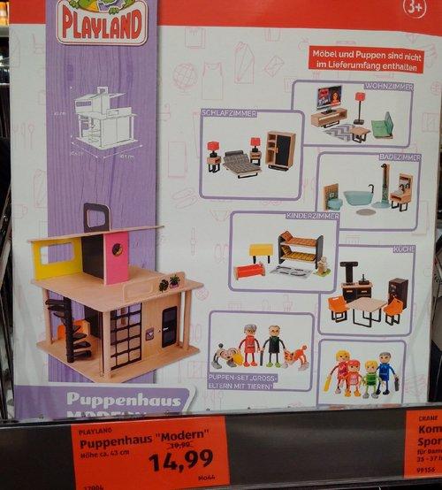 """PLAYLAND Puppenhaus """"Modern"""", ca. 43 cm hoch - jetzt 25% billiger"""