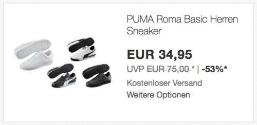 PUMA Roma Basic Herren Sneaker, versch. Farben und Größen - jetzt 25% billiger
