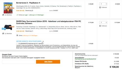 RAZER Raiju Tournament Edition 2019 PS4/PC Controller inkl. Borderlands 3 - PlayStation 4 - jetzt 28% billiger