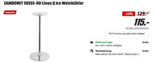 SAMBONET 56555-00 Linea Q Ice Ständer für Weinkühler - jetzt 21% billiger