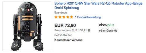 Sphero R201QRW Star Wars R2-Q5 Roboter, appfähige Droid Spielzeug - jetzt 14% billiger