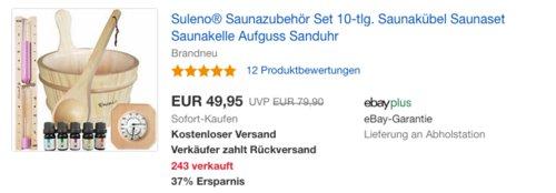Suleno® Saunazubehör Set, 10-tlg. - jetzt 17% billiger