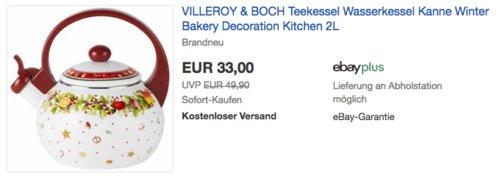 Villeroy & Boch Winter Bakery Teekessel, 2 L - jetzt 25% billiger