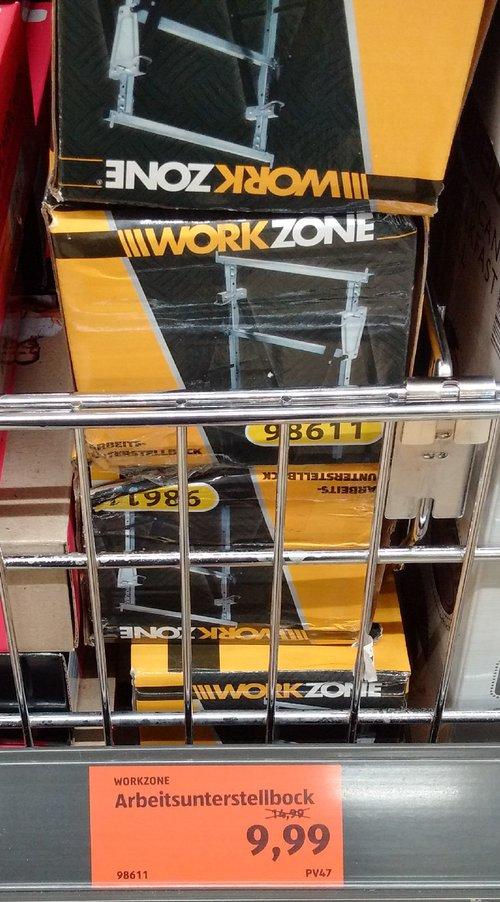 WORKZONE Arbeitsunterstellbock, bis ca. 200 kg - jetzt 33% billiger