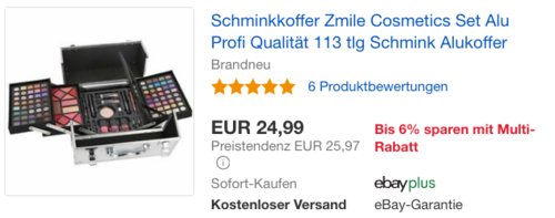 BriConti Schminkkoffer Zmile Cosmetics, 113-teilig - jetzt 12% billiger