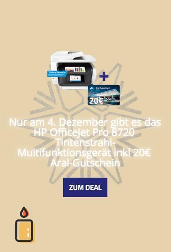 HP OfficeJet Pro 8720 Tintenstrahl-Multifunktionsgerät + 20 EURO Aral SuperCard - jetzt 10% billiger