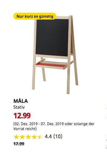 IKEA Düsseldorf - MÅLA Stativ, Nadelholz, weiß - jetzt 28% billiger