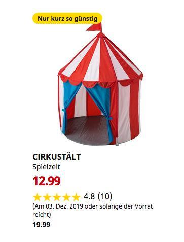 IKEA Frankfurt - CIRKUSTÄLT Spielzelt,100x120 cm - jetzt 35% billiger