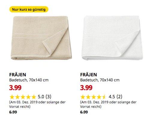 IKEA Freiburg - FRÄJEN Badetuch, 70x140 cm,beige oderweiß - jetzt 43% billiger