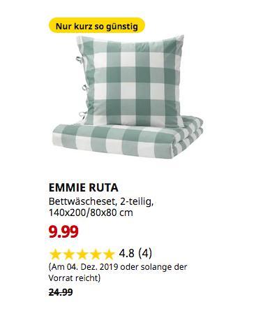 IKEA Hanau - EMMIE RUTA Bettwäscheset, 2-teilig, grün, weiß, 140x200/80x80 cm - jetzt 60% billiger