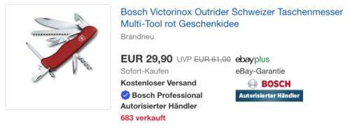 Victorinox Outrider 1600A0179R Schweizer Taschenmesser, rot - jetzt 13% billiger