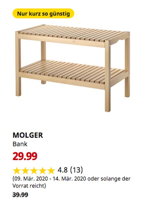 IKEA BRICKAN Spiegel mit Aufbewahrung für 29,99€ (-40%)